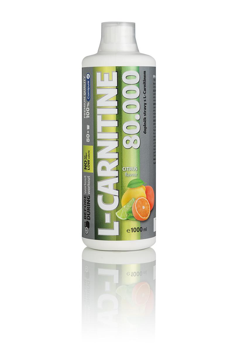 Etiketa na nový produkt Carnitine 80 000